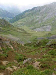 descenso desde la Forqueta del Portillín