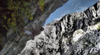 Manu Córdoba escalando en IV Encuentro de Escaladores de Teverga