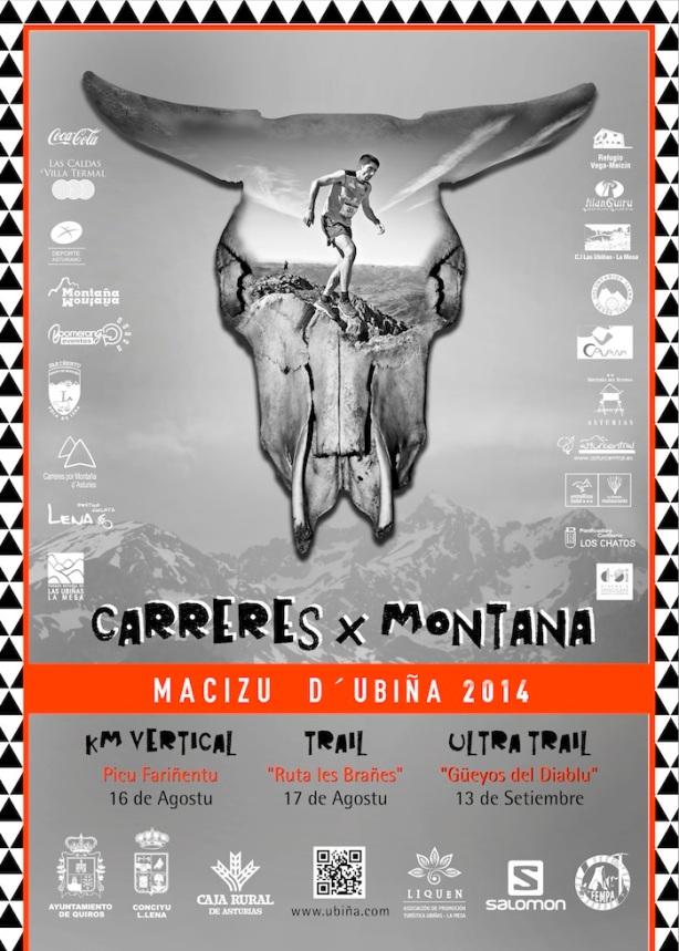 Cartel Carreres por Montaña del Macizu d'Ubiña 2014